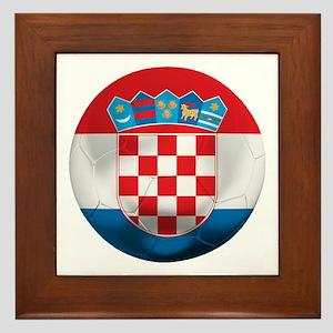 Croatia Football Framed Tile