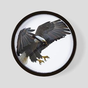Bald Eagle Flying Wall Clock