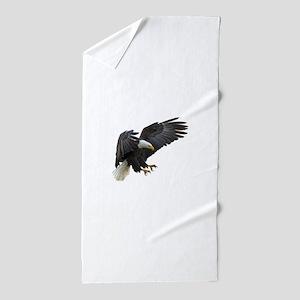 Bald Eagle Flying Beach Towel