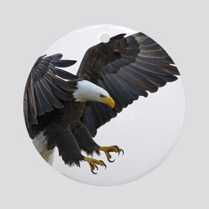 Bald Eagle Flying Round Ornament