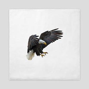 Bald Eagle Flying Queen Duvet