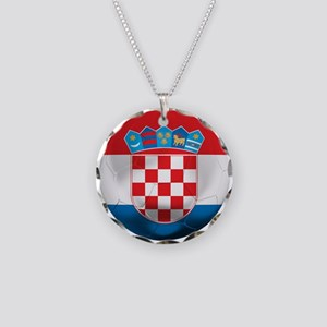 Croatia Football Necklace Circle Charm