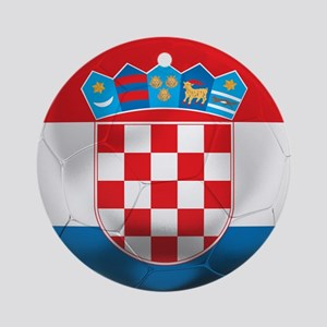 Croatia Football Ornament (Round)