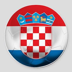 Croatia Football Round Car Magnet
