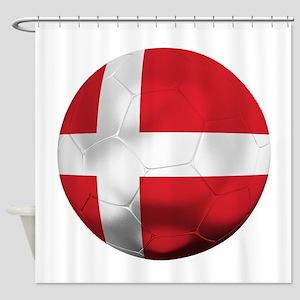 Denmark Football Shower Curtain