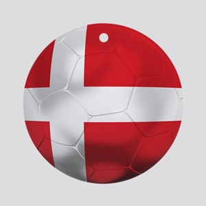 Denmark Football Ornament (Round)