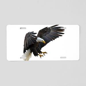 Bald Eagle Flying Aluminum License Plate