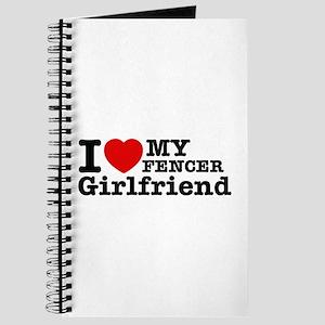 Cool Fencer Girlfriend designs Journal