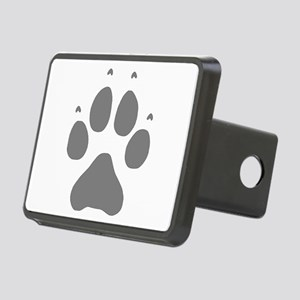 Wolf Paw Print Rectangular Hitch Cover