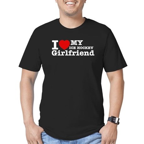 Cool Ice Hockey Girlfriend designs Men's Fitted T-
