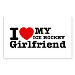 Cool Ice Hockey Girlfriend designs Decal