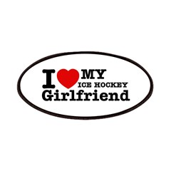Cool Ice Hockey Girlfriend designs Patches