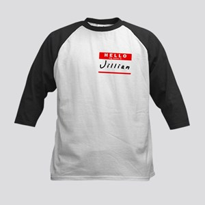 Jillian, Name Tag Sticker Kids Baseball Jersey