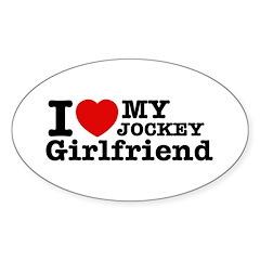 Cool Jockey Girlfriend designs Sticker (Oval)