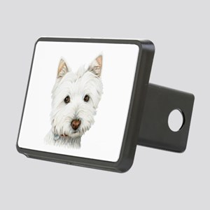 pastel on canvas westie Rectangular Hitch Cove