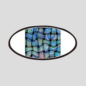 blue textile Patches