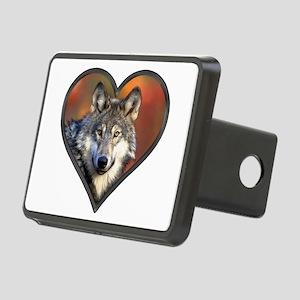 Wolf Heart Rectangular Hitch Cover
