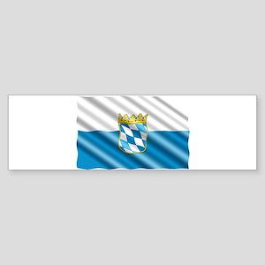 Bavaria Flag Bumper Sticker