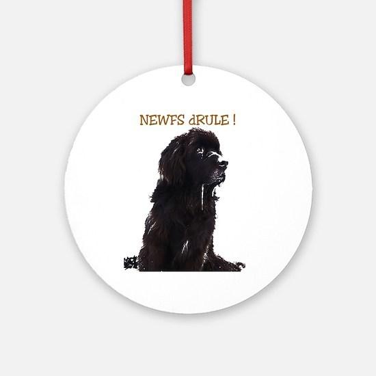 Newfs dRule! Ornament (Round)
