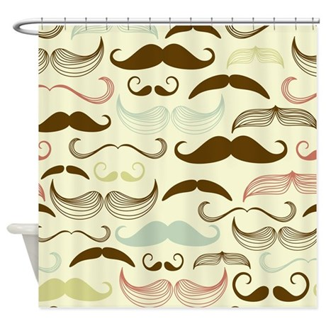 Mustache Pattern Shower Curtain