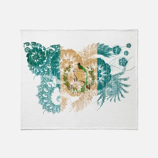 Guatemala Flag Throw Blanket