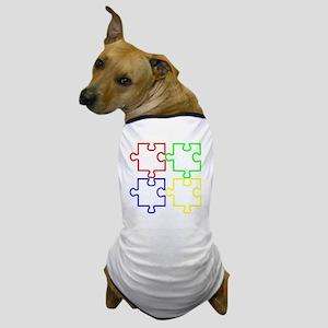 Autism Awareness Puzzles Dog T-Shirt