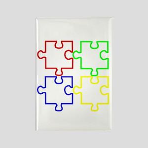 Autism Awareness Puzzles Rectangle Magnet