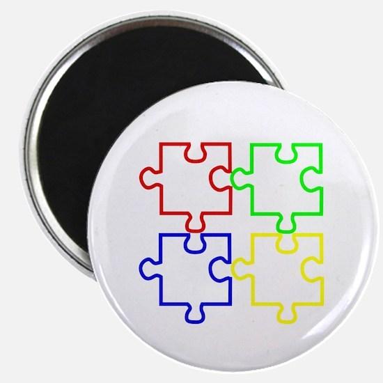 Autism Awareness Puzzles Magnet