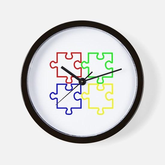 Autism Awareness Puzzles Wall Clock