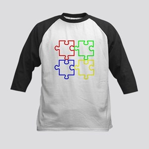 Autism Awareness Puzzles Kids Baseball Jersey