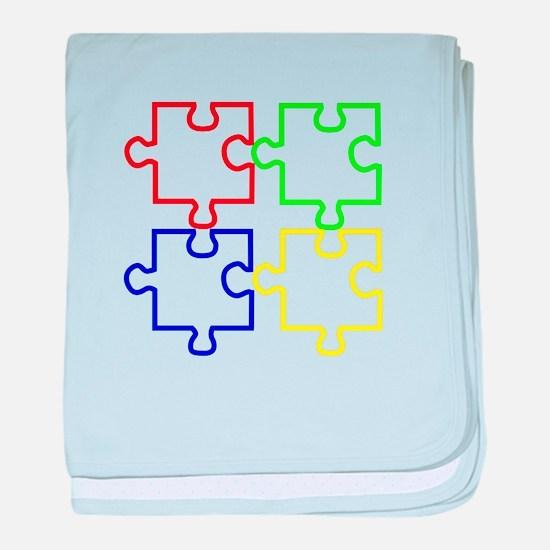 Autism Awareness Puzzles baby blanket
