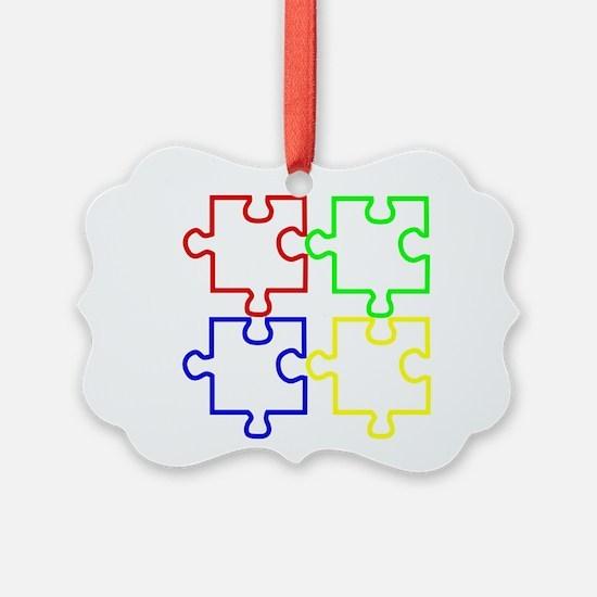 Autism Awareness Puzzles Ornament