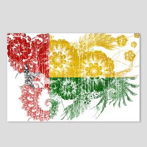 Guinea Bissau Flag Postcards (Package of 8)