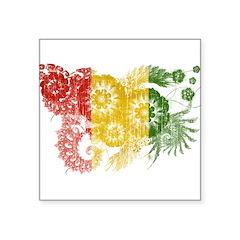 Guinea Flag Square Sticker 3