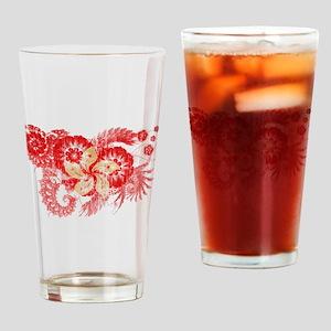 Hong Kong Flag Drinking Glass