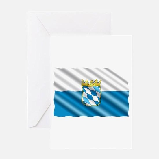 Bavaria Flag Greeting Cards