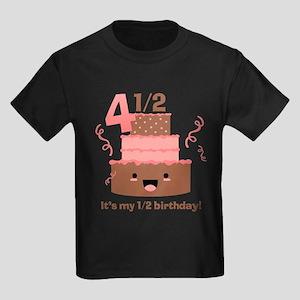 Kawaii Cake 4 1 2 Birthday Kids Dark T Shirt