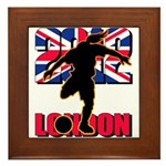 Soccer 2012 London Framed Tile