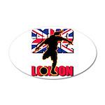 Soccer 2012 London 38.5 x 24.5 Oval Wall Peel