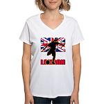 Soccer 2012 London Women's V-Neck T-Shirt