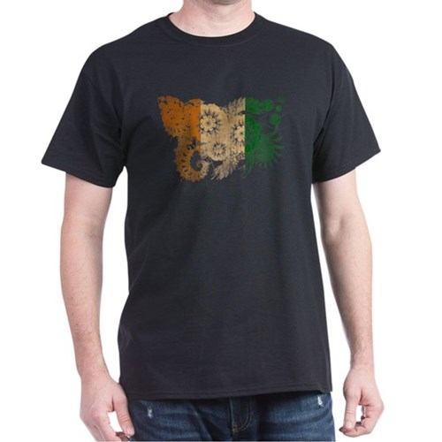 Ivory Coast textured flower aged copy T-Shirt