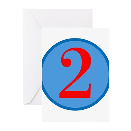 Number Two Birthday Greeting Cards (Pk of 10)