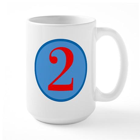 Number Two Birthday Large Mug