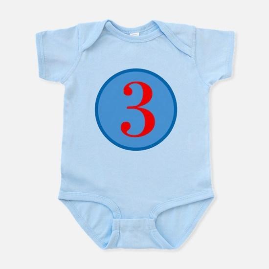 Number Three Birthday Infant Bodysuit