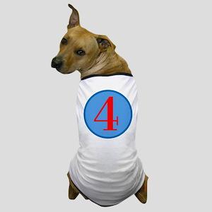 Number Four Birthday Dog T-Shirt