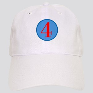Number Four Birthday Cap