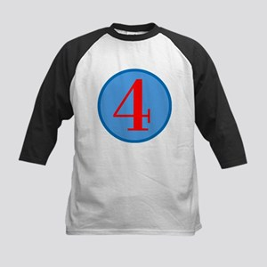 Number Four Birthday Kids Baseball Jersey