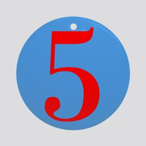 Number Five Birthday Ornament (Round)