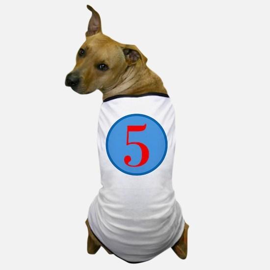 Number Five Birthday Dog T-Shirt