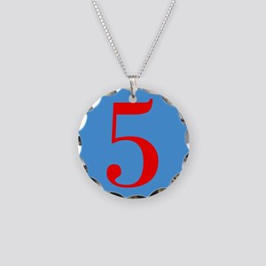 Number Five Birthday Necklace Circle Charm